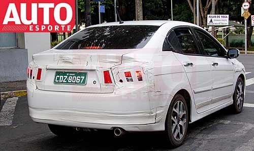 Honda City fotografiado en San Pablo - Foto: AutoEsporte.