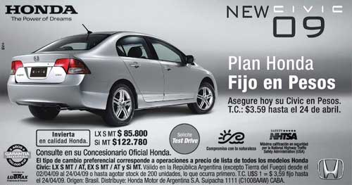 Promo Honda Civic Pascuas
