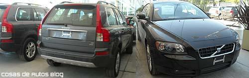 Las XC90 y el C30 de Volvo, una marca que aún es de Ford.