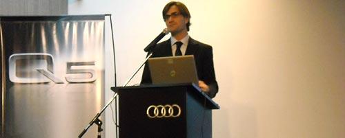 Gustavo Gioa en la presentación del Audi Q5 en Argentina.
