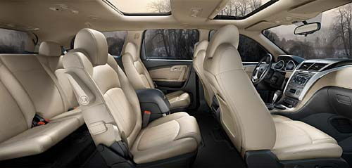 Interior de la Chevrolet Traverse.