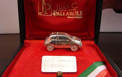 El Fiat 500 creado en plata por Pallarols.