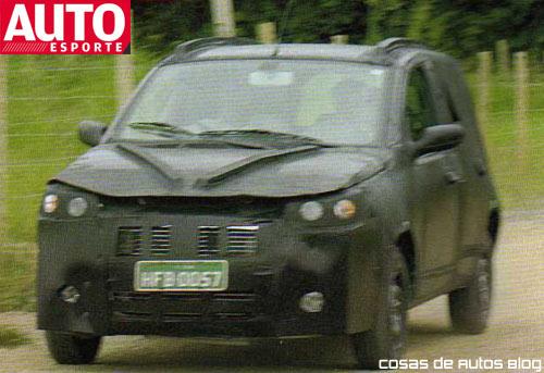 El nuevo Fiat Uno capturado por AutoEsporte en un test.