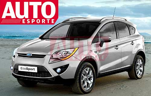 Ford EcoSport 2012 recreado por Renato Aspromonte para AutoEsporte.