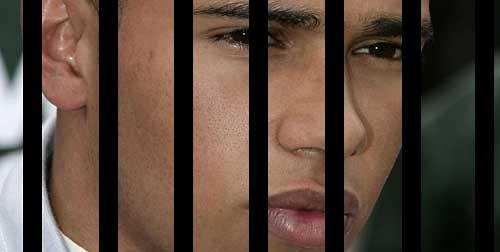 Lewis Hamilton, preso de la F1.