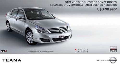 Nissan Teana a precio promocional.
