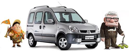 Renault Kangoo 2 en co-branding con Disney-Pixar y su película Up. Fotomontaje: Cosas de Autos Blog