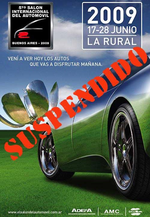 Salon del Automóvil de Buenos Aires 2009 suspendido