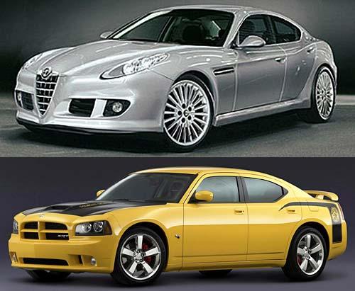 Alfa Romeo 169 y Dodge Charger