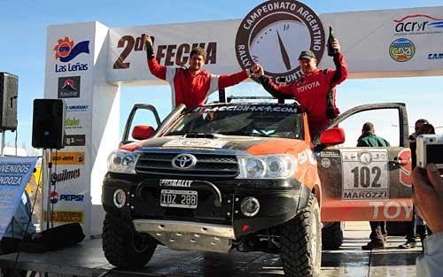 Young-Lozada (Toyota SW4) ganaron en autos en la segunda fecha del Cross Country.