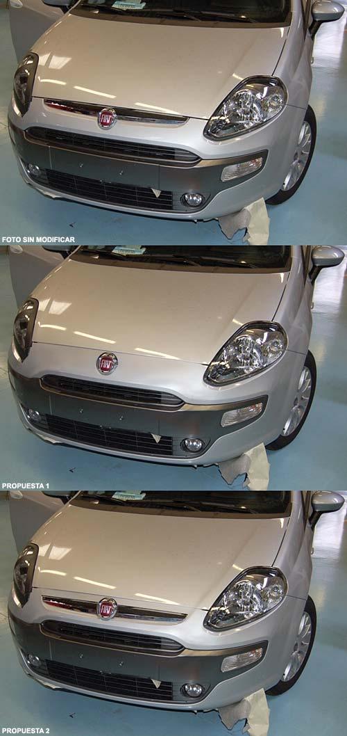 Frente del Fiat Grande Punto 2010 revelado e intervenido por lectores de Autopareri.