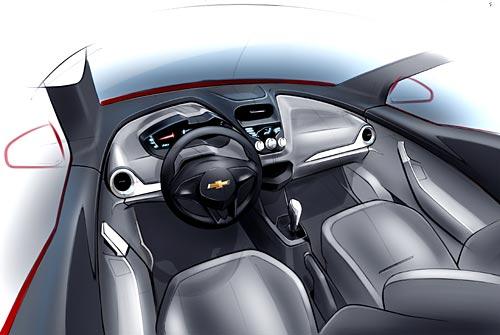 Boceto oficial del Chevrolet Agile.