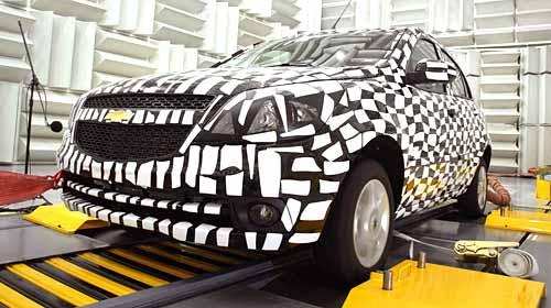 Chevrolet testea el Ágile antes de su lanzamiento.