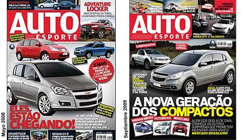 Tapas de AutoEsporte de mayo 2008 y septiembre 2009