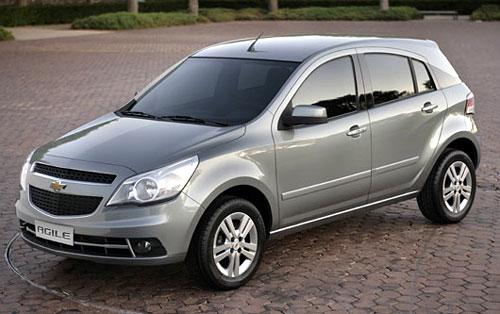 Chevrolet Agile primera foto oficial dada a conocer por GM Brasil.