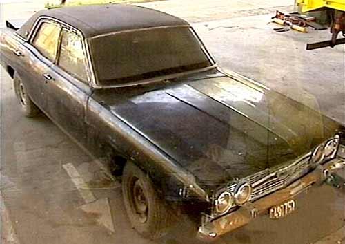 Ford Fairlane presidencial de Juan Perón. Foto: Imagen de TV.