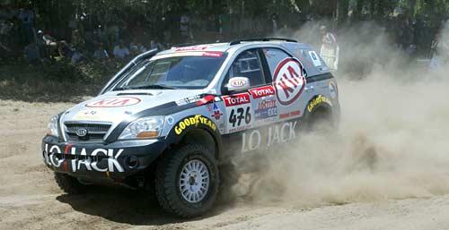 La Kia Sorento de los Arrieta en el Dakar 2009.