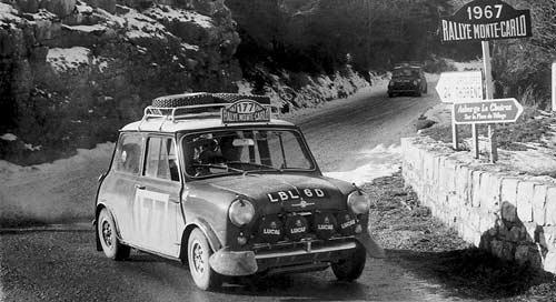 El Mini en el Rally de Monte Carlo de 1967