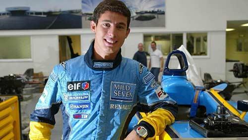 José María López en su etapa como piloto del equipo Renault F1.