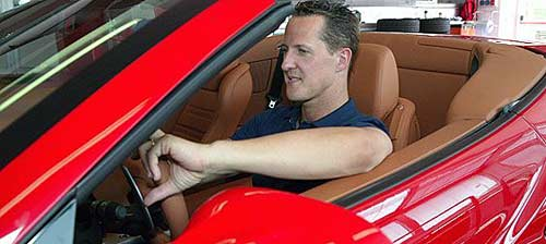 Schumi en su Ferrari