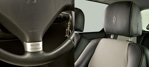 Detalles interiores del Peugeot 307 La Dolfina.