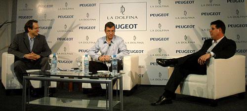Rocca, Moretti y Averame en la conferencia de prensa de la presentación de 307 La Dolfina.
