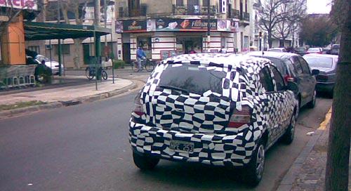 Chevrolet Agile por las calles de Rosario - Foto: Fernando P.