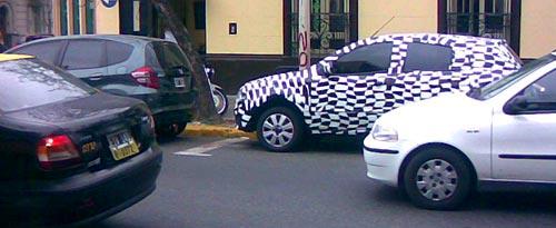 Chevrolet Ágile por las calles de Rosario - Foto: Fernando P.