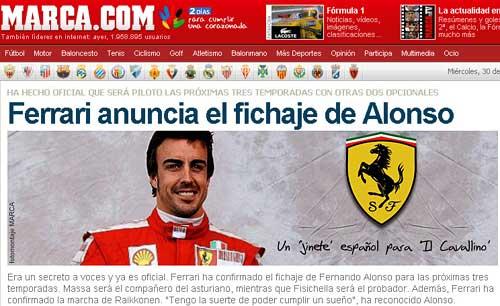 Tapa del diario Marca.
