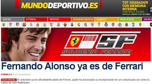 Tapa de Mundo Deportivo.