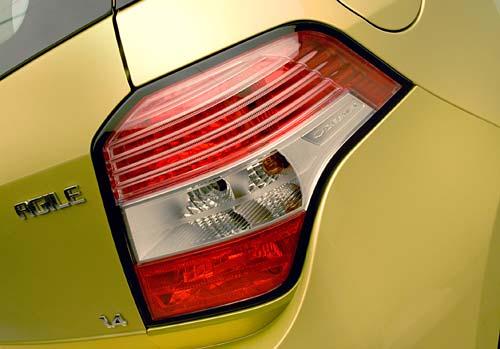 Faro trasero del Chevrolet Agile - Fotos oficiales.