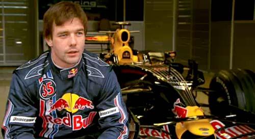 Loeb en una de sus pruebas con Red Bull.