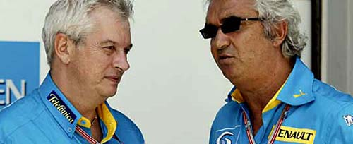 Pat Symonds y Flavio Briatore