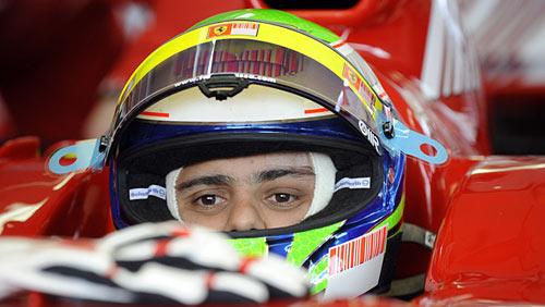 Felipe Massa a punto de probar en Fiorano.