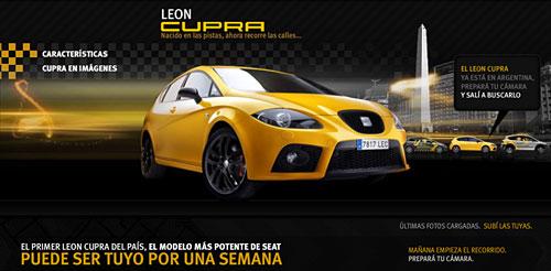 Concurso Seat León Cupra