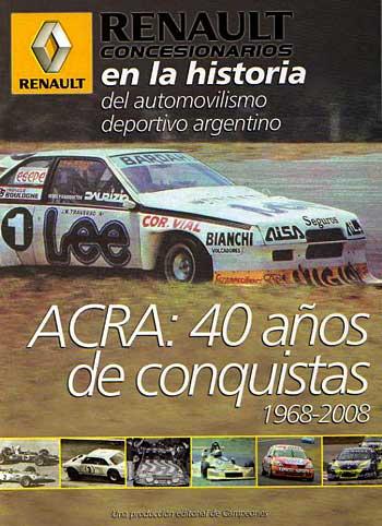 """Tapa del libro """"Renault en la historia del automovilismo argentino"""""""