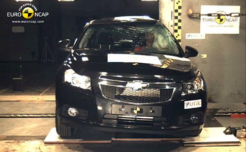 Chevrolet Cruze en el test del EuroNCAP