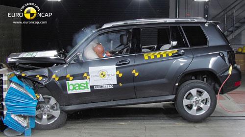MercedesGLK en el test del EuroNCAP