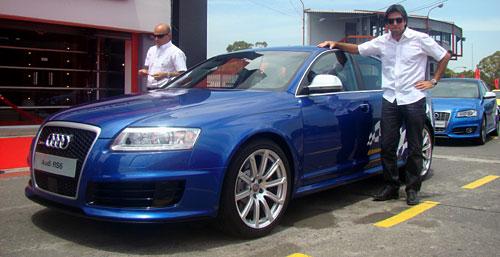 Manejando el Audi RS6 en el Gálvez
