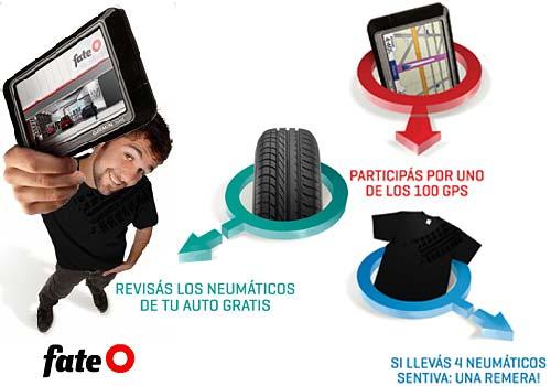 Chequeá con Fate tus neumáticos y ganá un GPS
