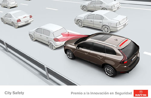 El sistema City Safety de Volvo