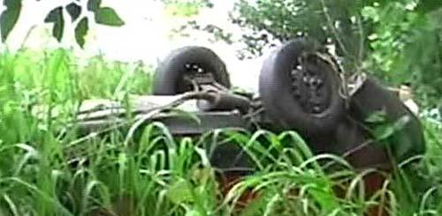 Así apareció el auto de los Pomar - Imagen de TV