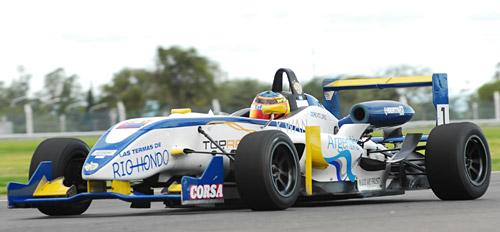 José María López giró sobre un Fórmula 3 Sudamericana - Foto: Prensa JM López