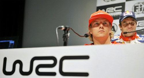 Kimi Raikkonen y Sebastian Loeb