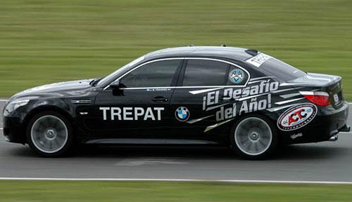 Juan María Traverso al volante del BMW M5 - Foto: ACTC