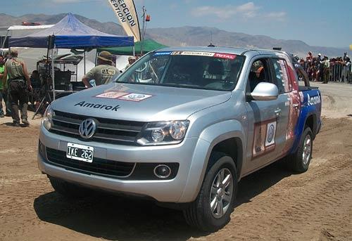 La VW Amarok en el Dakar.
