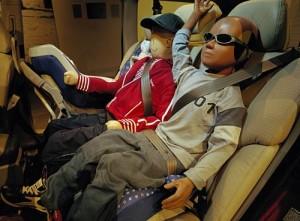 Todos los ocupantes deben usar cinturón y los menores de 10 años viajar atrás - Foto: Volvo