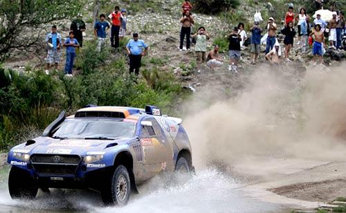 El público argentino acompañó con pasión el Dakar 2010.
