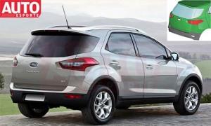 Así quedaría la nueva Ford EcoSport 2013 - Imagen: AutoEsporte hecha por João Kleber Amaral