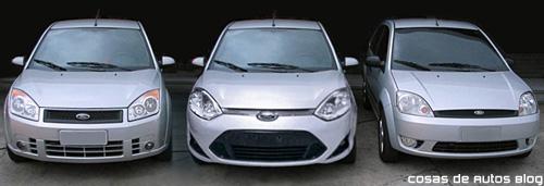 Comparación del Ford Fiesta 2011 para el Mercosur con sus generaciones anteriores - Fotomontaje: Cosas de Autos
